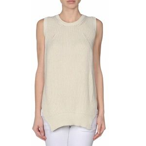 EUC Céline Sleeveless Sweater in Natural